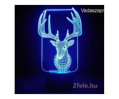 3D LED lámpa Távírányítóval