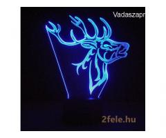 3D LED lámpa Távirányítóval