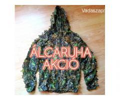 Terepmintás 3D levél mintás álcaruha szett camo vadász katonai ruha