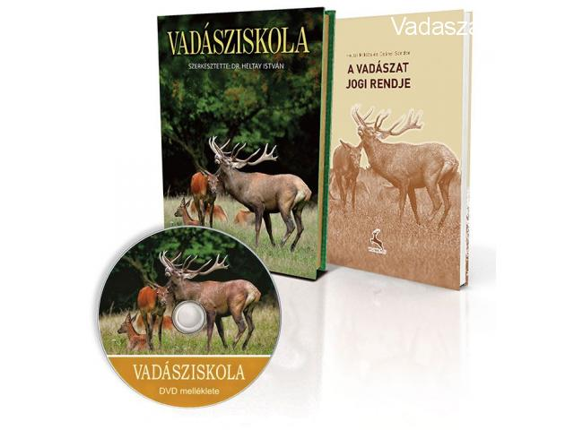 Vadásziskola könyv + DVD melléklet + a vadászat jogi rendje