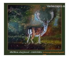 DÁM BIKA c. eladó festmény