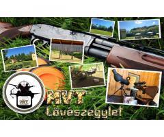 Lövészeti lehetőség a nyíregyházi MVT LŐVÉSZEGYLET lőterén