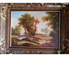 Antik vadász festmény eladó